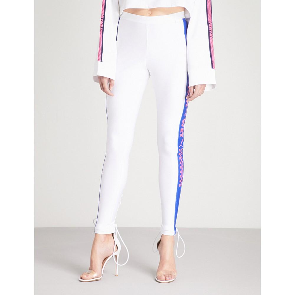 プーマ レディース インナー・下着 スパッツ・レギンス【fenty x puma side-strip jersey leggings】Bright white