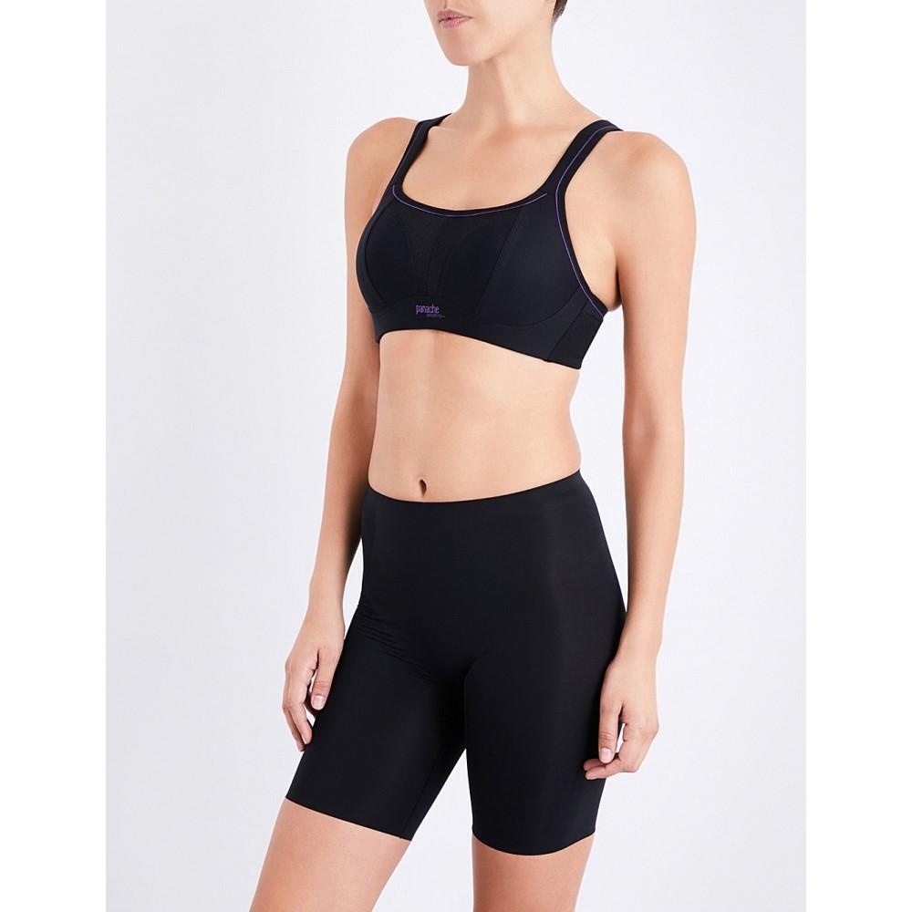 パナシェ レディース インナー・下着 スポーツブラ【non-wired mesh and jersey sports bra】Black
