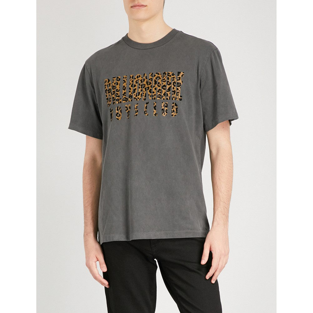 ビリオネアボーイズクラブ メンズ トップス Tシャツ【leopard logo cotton-jersey t-shirt】Black