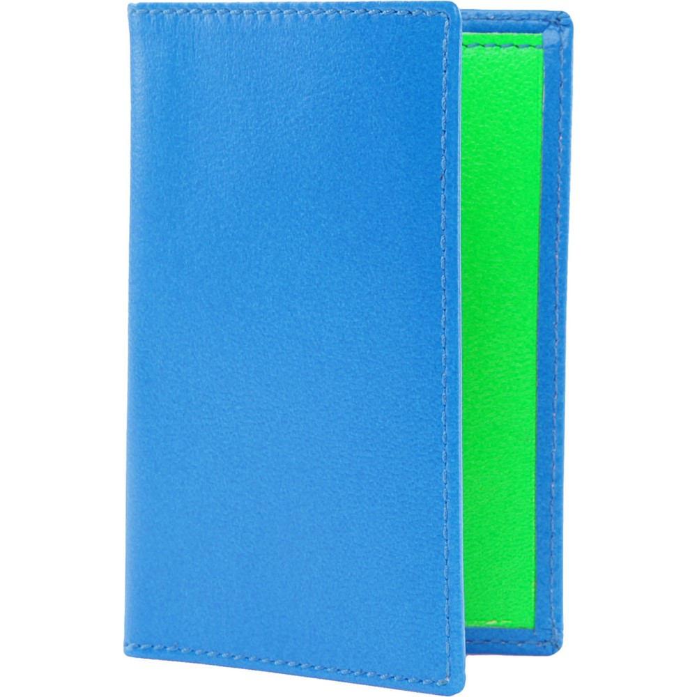 コム デ ギャルソン メンズ カードケース・名刺入れ【colour block leather card holder】Blue