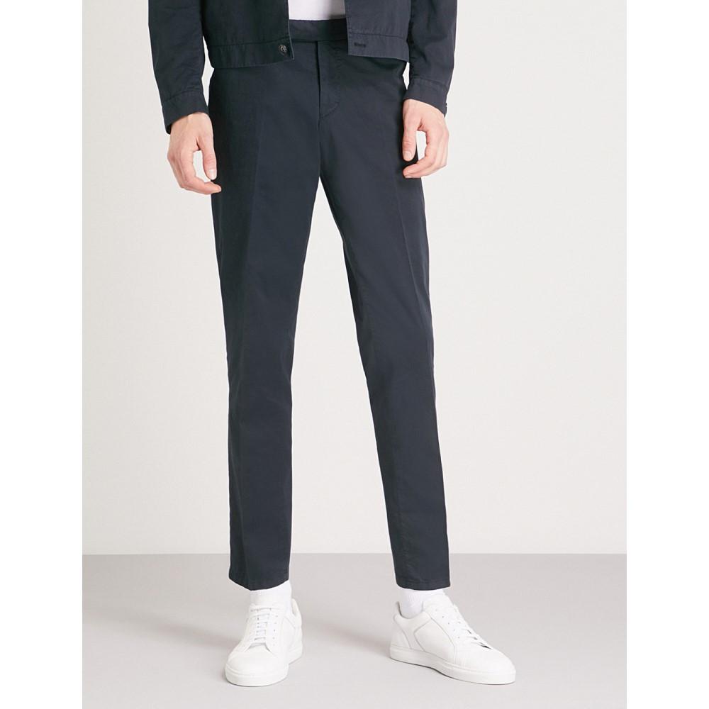 タイガー オブ スウェーデン メンズ ボトムス・パンツ【gordon regular-fit tapered cotton trousers】Blue