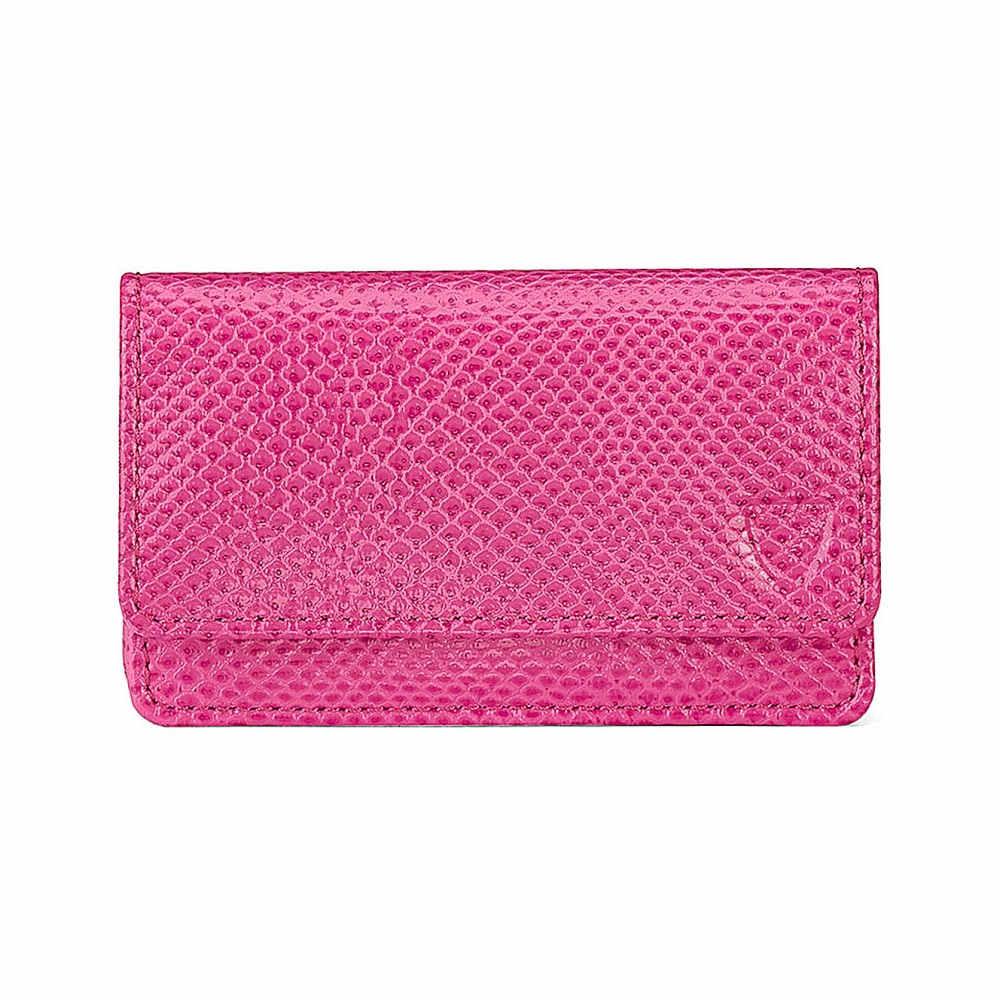 アスピナル オブ ロンドン レディース カードケース・名刺入れ【leather business and credit card case】Pink