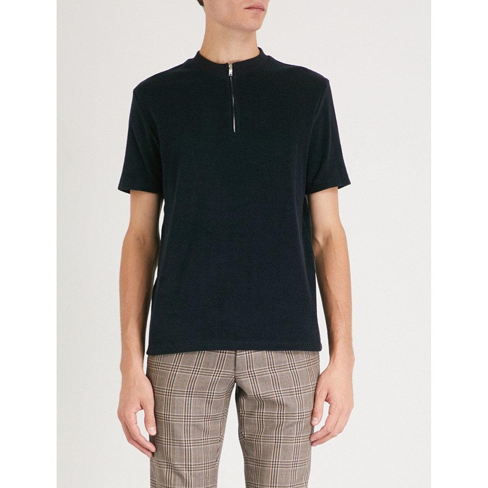 リース メンズ トップス Tシャツ【dinnington cotton-blend t-shirt】Navy