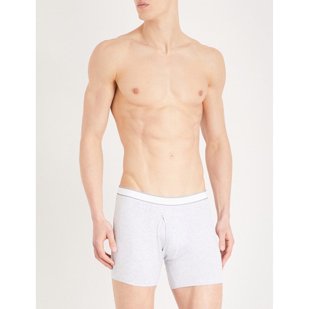 デリック ローズ メンズ インナー・下着 ボクサーパンツ【ethan regular-fit stretch-cotton trunks】Silver