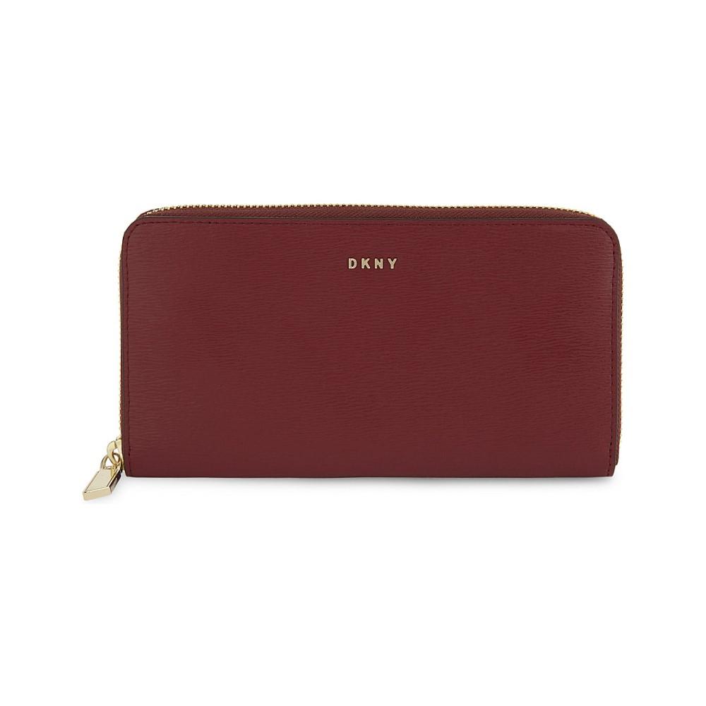 ダナ キャラン ニューヨーク レディース 財布【bryant zip-around leather wallet】Scarlet