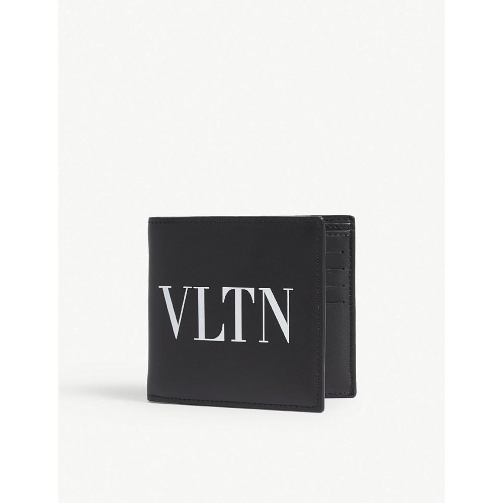 ヴァレンティノ メンズ 財布【vltn leather billfold wallet】Black white
