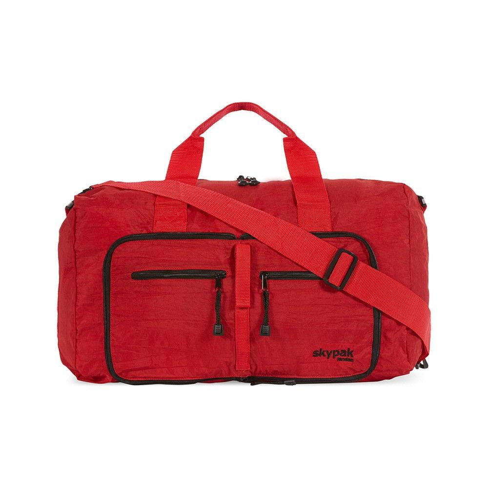 スカイパック メンズ バッグ ボストンバッグ・ダッフルバッグ【on board folding bag】Red