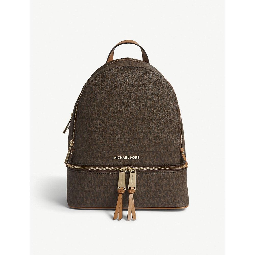 マイケル コース レディース バッグ バックパック・リュック【rhea medium leather backpack】Brown