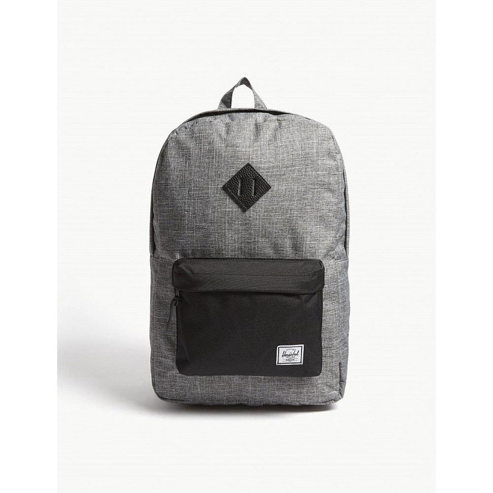 ハーシェル サプライ メンズ バッグ バックパック・リュック【heritage canvas backpack】Raven crosshatch/black
