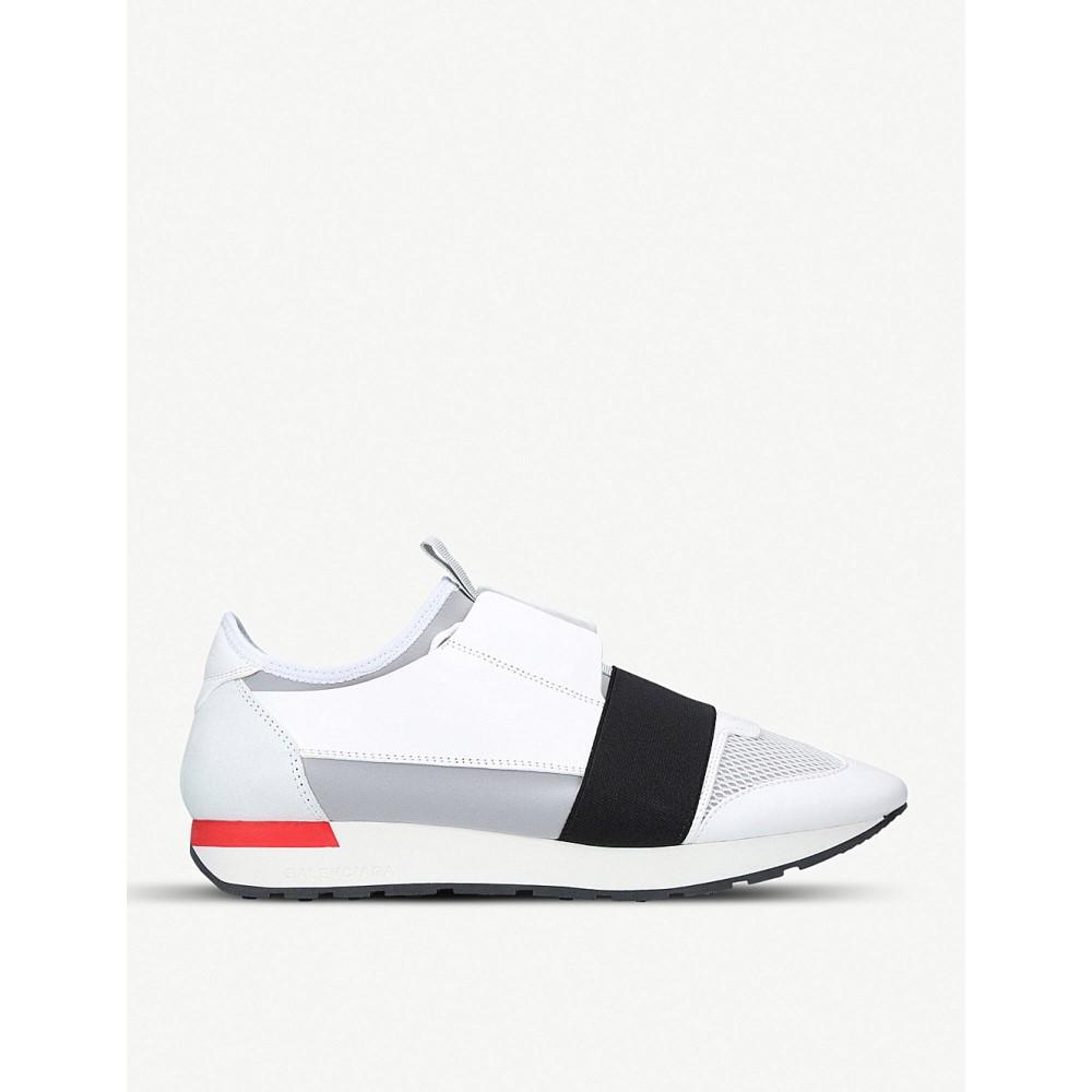 バレンシアガ メンズ シューズ・靴 スニーカー【race runners leather, suede and mesh trainers】White/blk