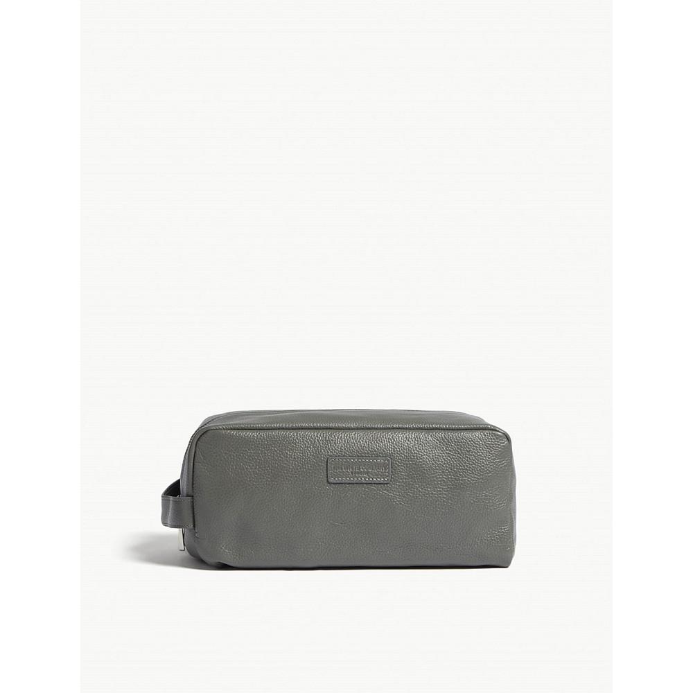ザ ホワイト カンパニー メンズ ポーチ【leather wash bag】Dark grey