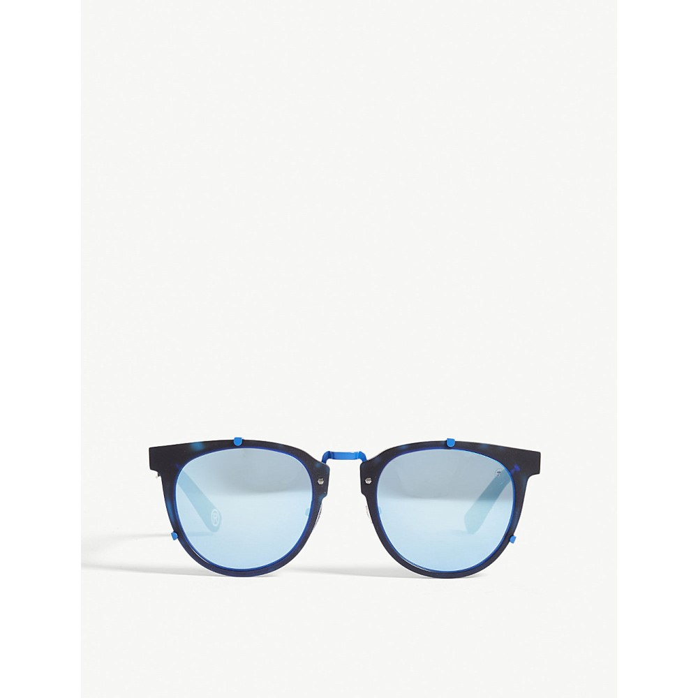 ベイプ メンズ メガネ・サングラス【bs13044 round-frame sunglasses】Blue