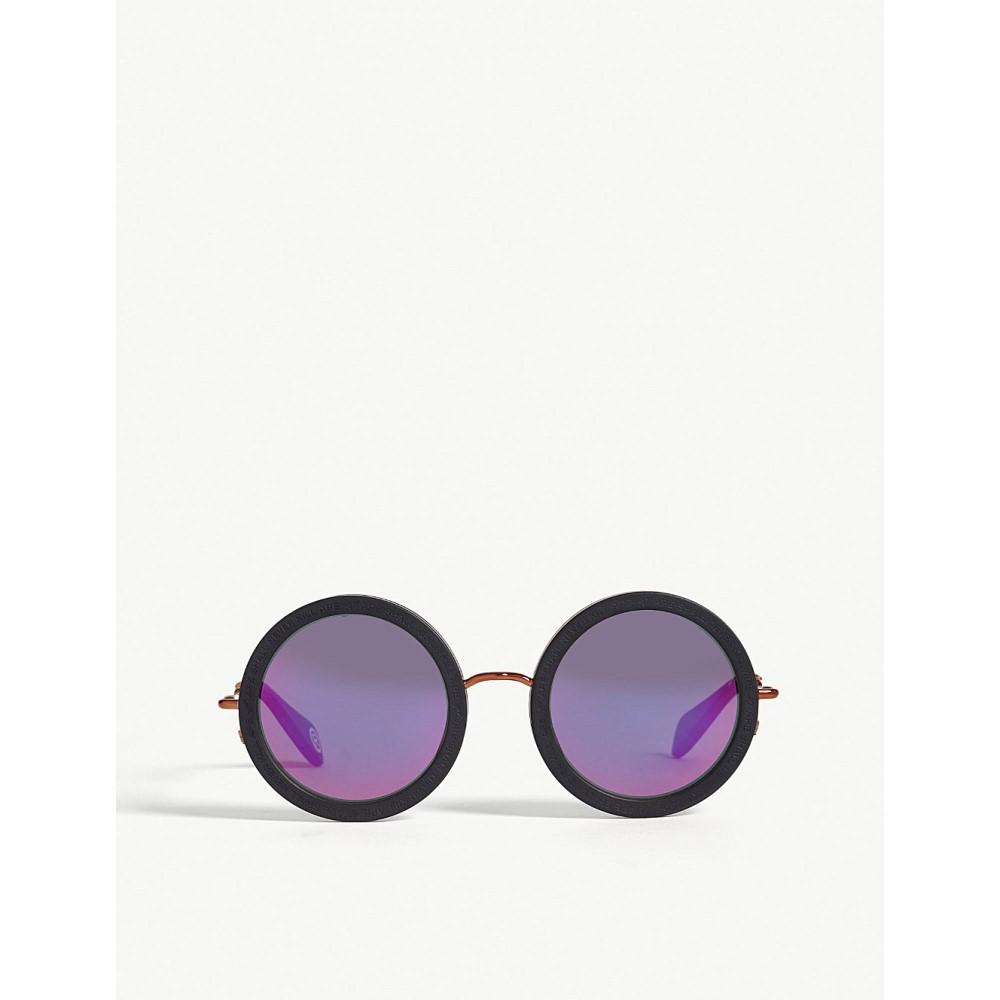 ベイプ メンズ メガネ・サングラス【bs13027 round-frame sunglasses】Black matte