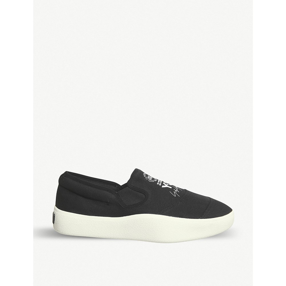 ワイスリー メンズ シューズ・靴 スリッポン・フラット【y-3 tangutsu slip-on trainers】Black white