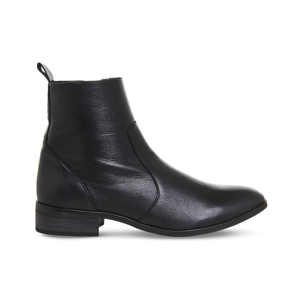 オフィス レディース シューズ・靴 ブーツ【ashleigh leather ankle boots】Black leather