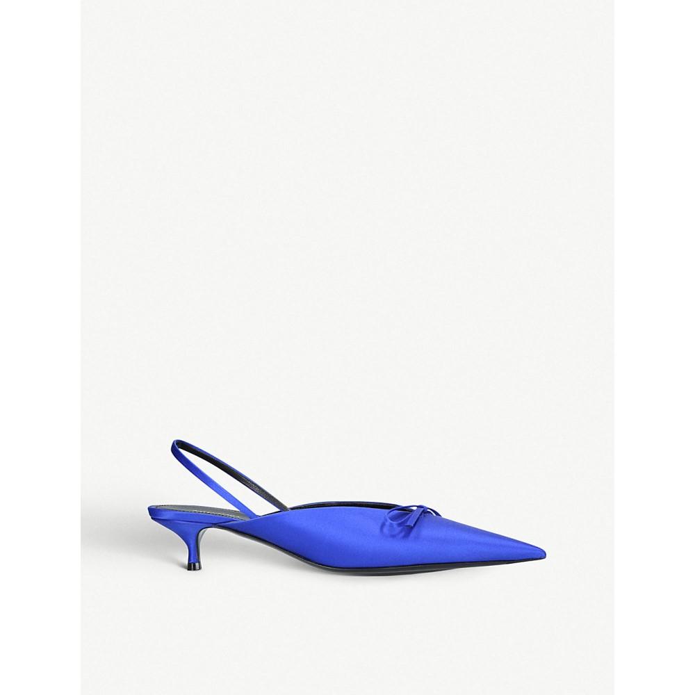 バレンシアガ レディース シューズ・靴 パンプス【knife satin slingback courts】Blue