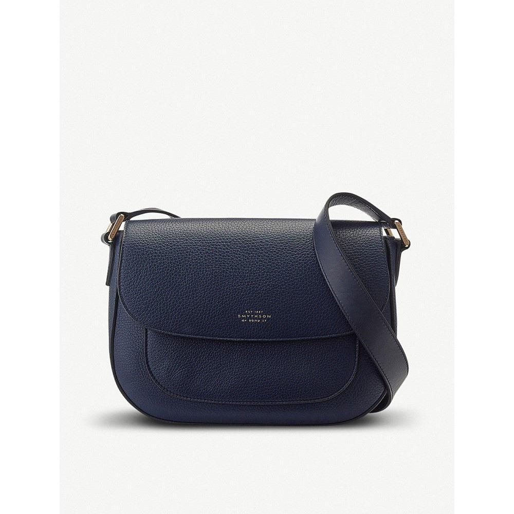 スマイソン レディース バッグ ショルダーバッグ【burlington leather saddle bag】Navy