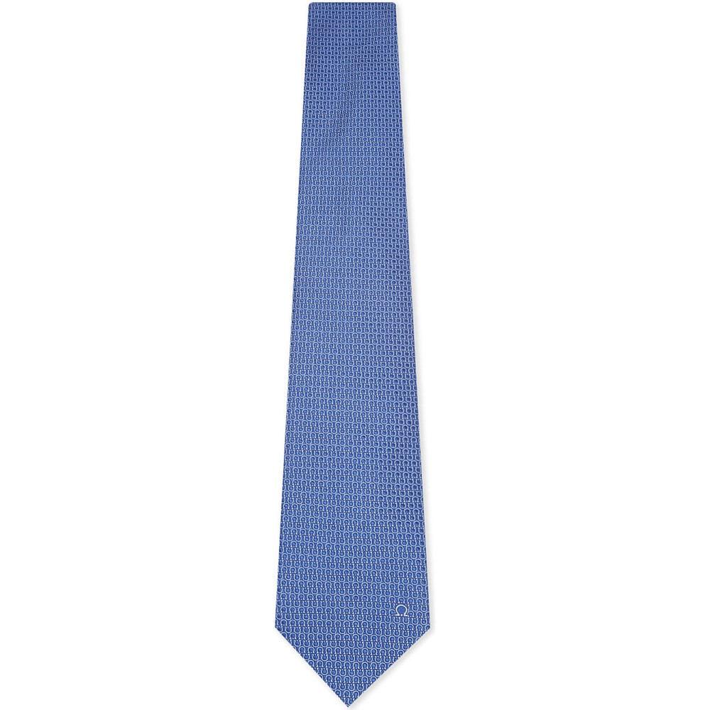 サルヴァトーレ フェラガモ メンズ ネクタイ【multi gancio silk tie】Light blue