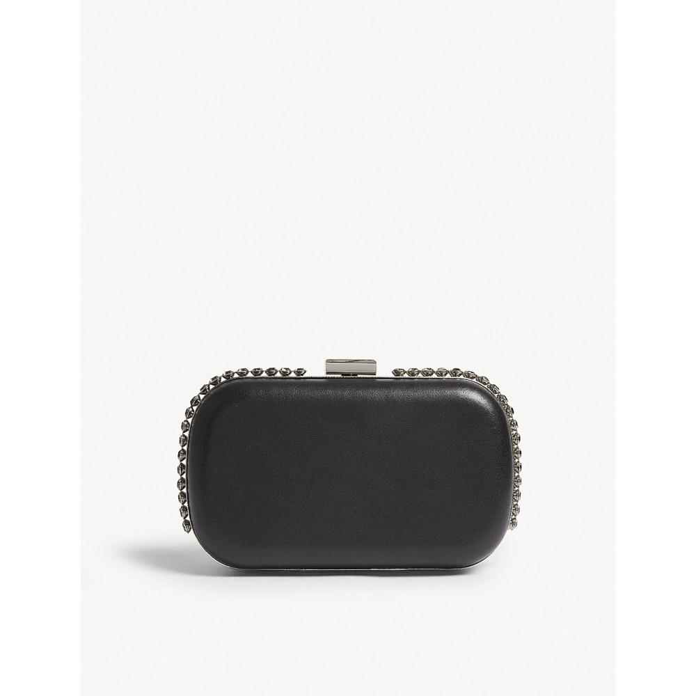 リース レディース バッグ クラッチバッグ【victoria crystal-embellished leather clutch】Black
