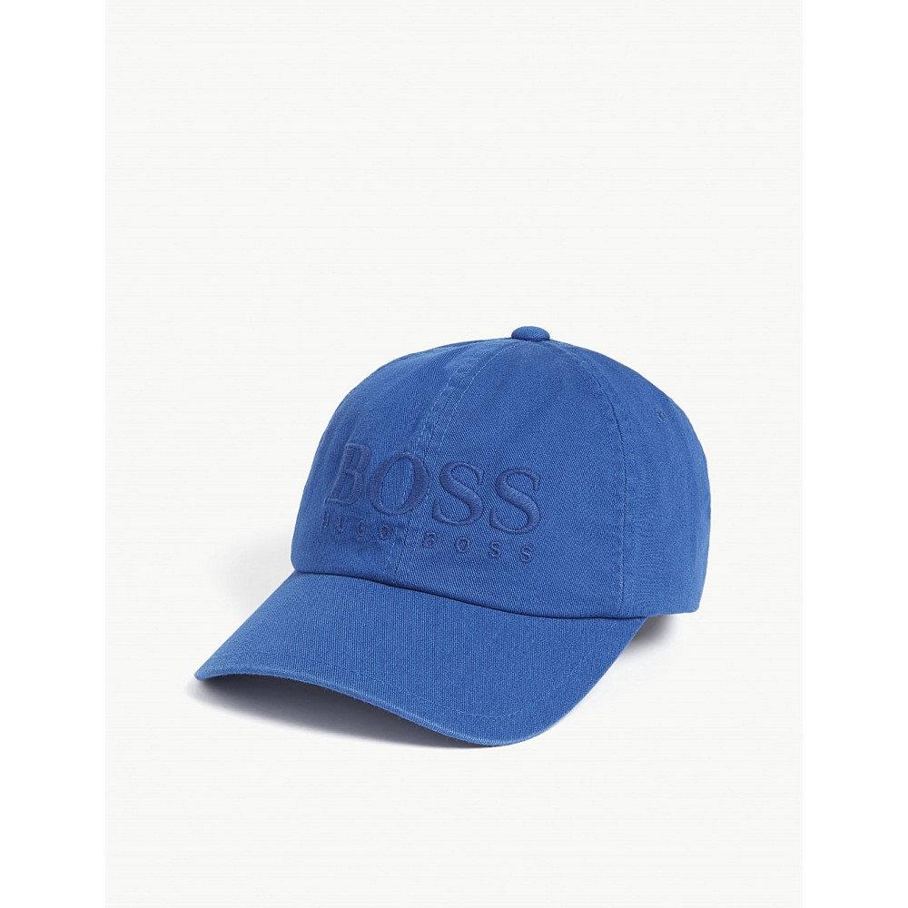 ヒューゴ ボス メンズ 帽子 キャップ【fritz logo cotton cap】Blue