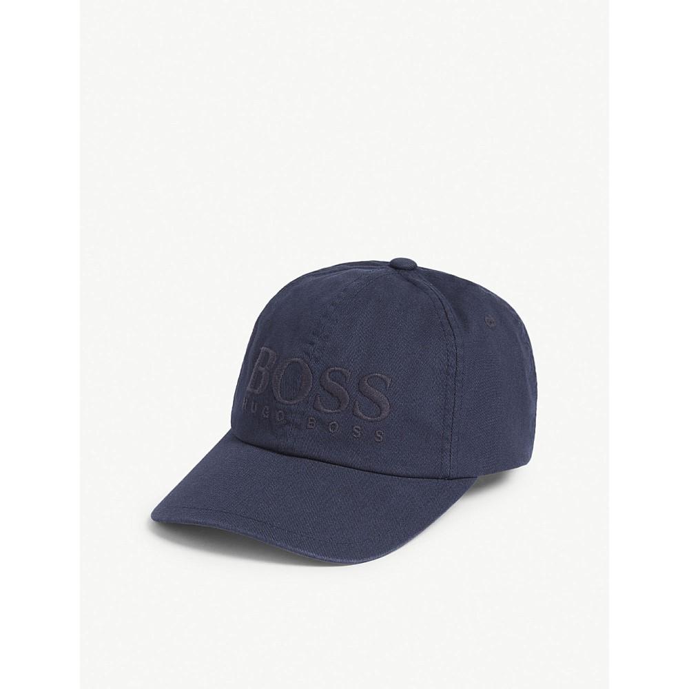ヒューゴ ボス メンズ 帽子 キャップ【fritz logo cotton cap】Navy