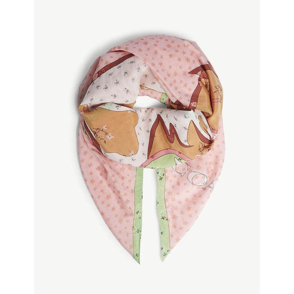 コーチ レディース マフラー・スカーフ・ストール【unicorn patchwork print cotton-silk scarf】Pink multi