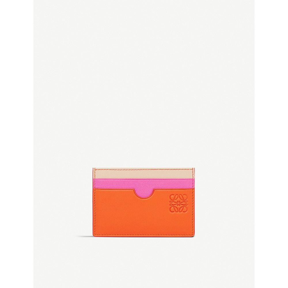 ロエベ レディース カードケース・名刺入れ【rainbow leather card holder】Orange/multicolour
