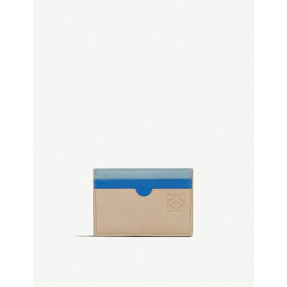 ロエベ レディース カードケース・名刺入れ【rainbow leather card holder】Sand/multicolor