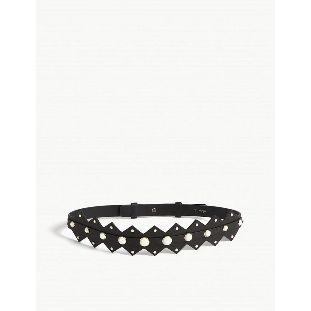 マージュ レディース ベルト【pearl detail leather belt】Multi-coloured
