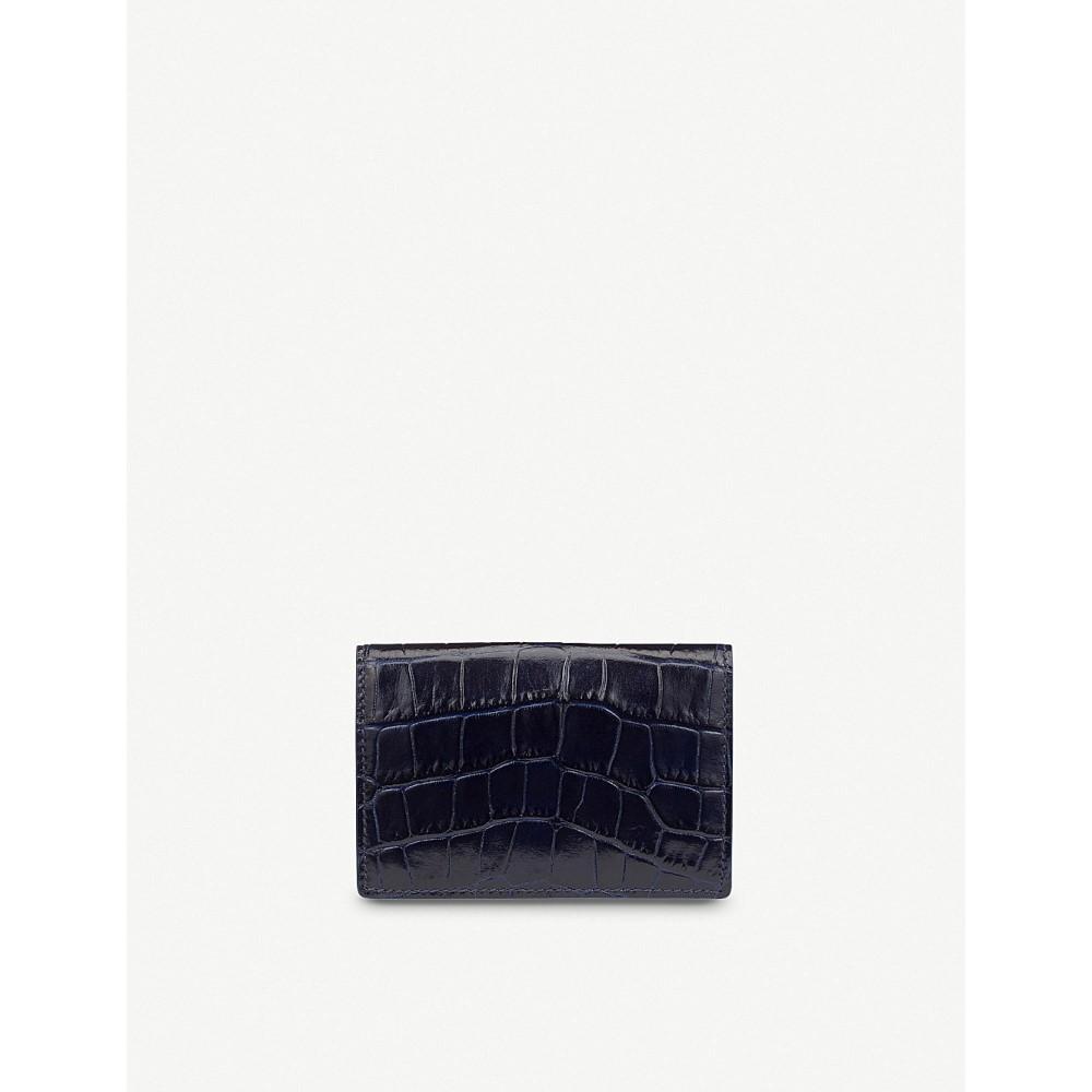 スマイソン レディース カードケース・名刺入れ【mara leather card case】Navy