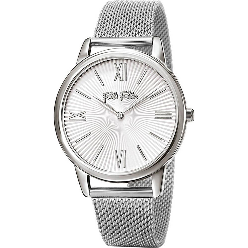 フォリフォリ レディース 腕時計【match point large silver-plated and stainless steel watch】Silver