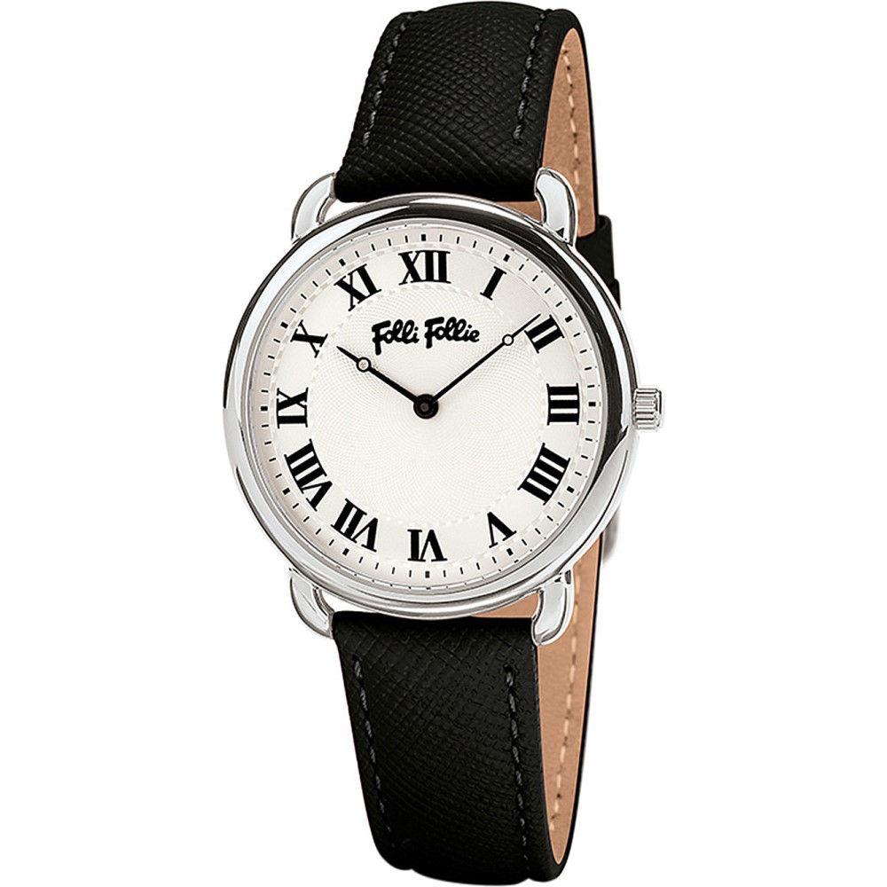 フォリフォリ レディース 腕時計【perfect match mini stainless steel and leather watch】Silver