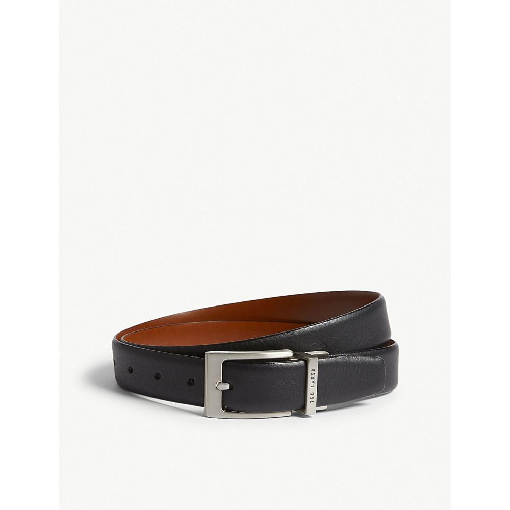 テッドベーカー メンズ ベルト【karmer reversible leather belt】Black