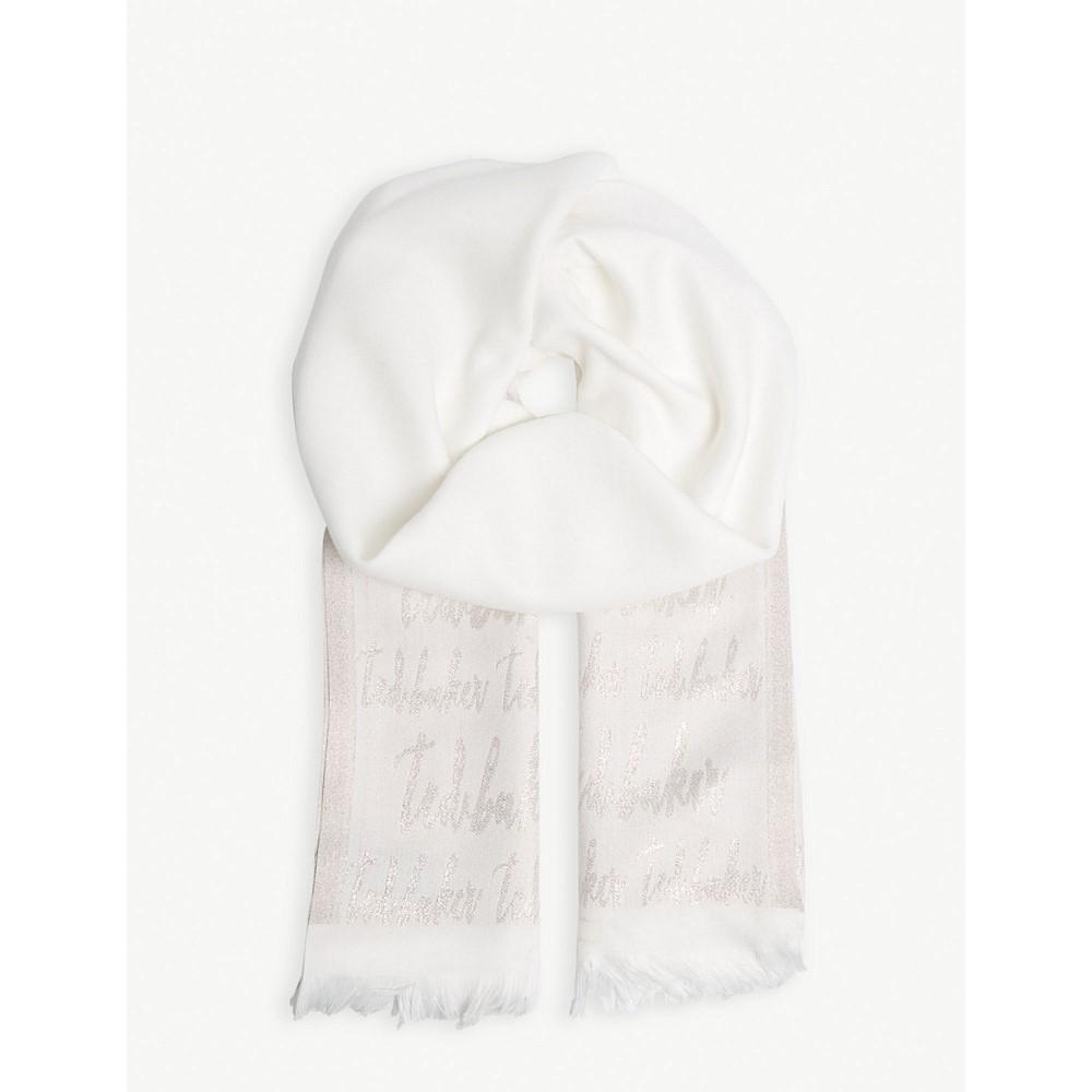 テッドベーカー レディース マフラー・スカーフ・ストール【teddii logo scarf】White