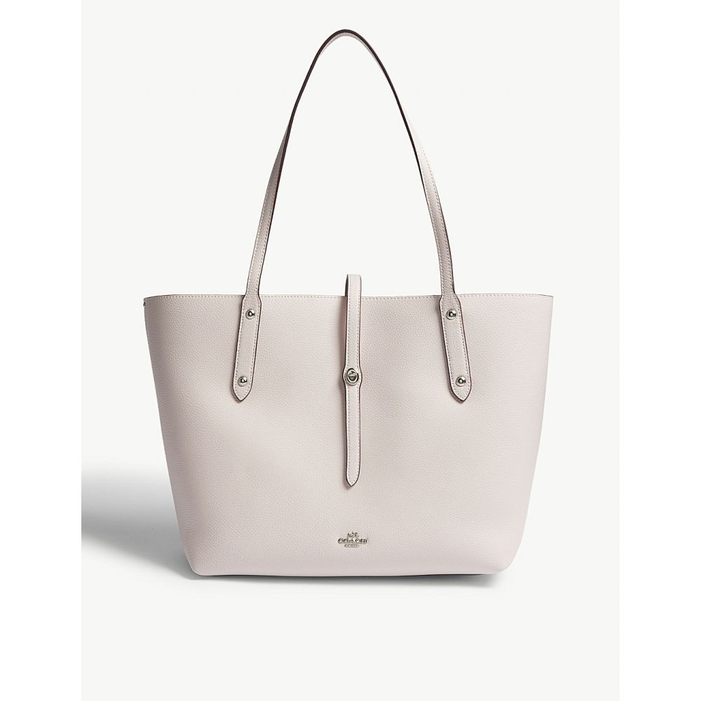 コーチ レディース バッグ トートバッグ【market leather tote bag】Sv/ice pink