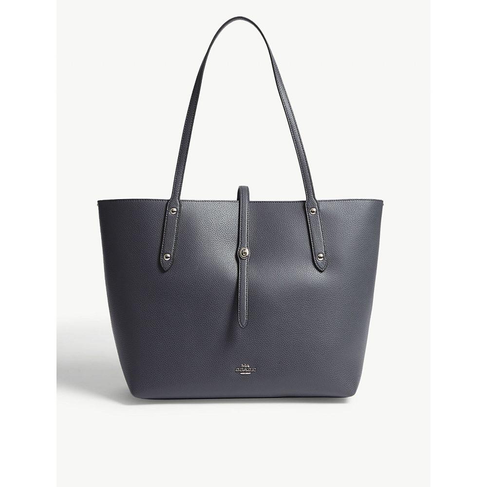 コーチ レディース バッグ トートバッグ【market leather tote bag】Sv/midnight navy