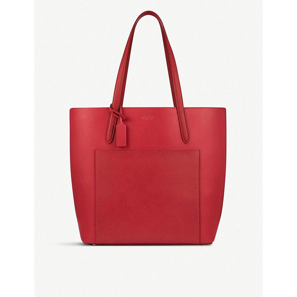 スマイソン レディース バッグ トートバッグ【bond north south leather tote bag】Red