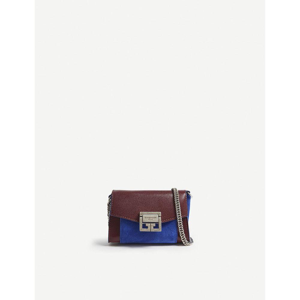 ジバンシー レディース バッグ ボディバッグ・ウエストポーチ【gv3 nano leather belt bag】Aubergine/blue