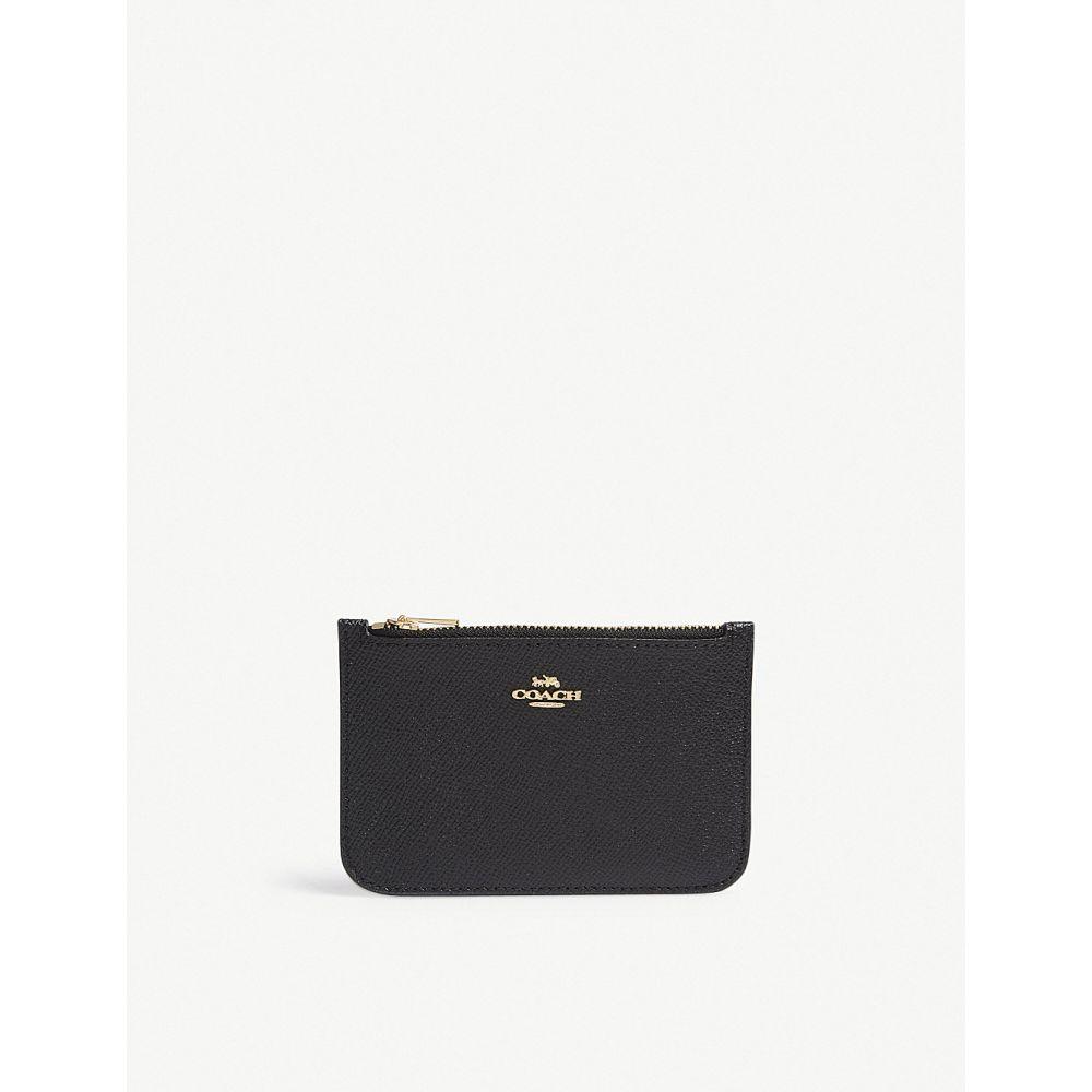 コーチ レディース カードケース・名刺入れ【saffiano leather card purse】Li/black