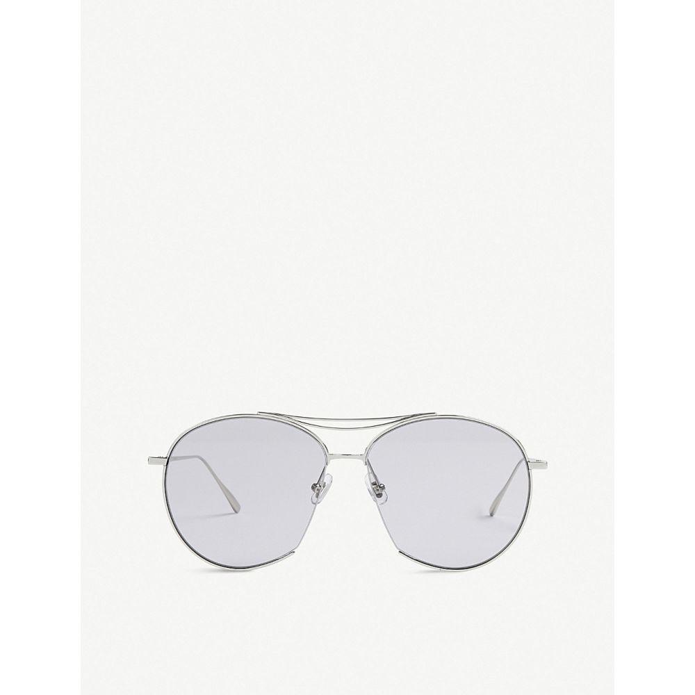 ジェントルモンスター レディース メガネ・サングラス【jumping jack tinted aviator stainless steel sunglasses】Silver