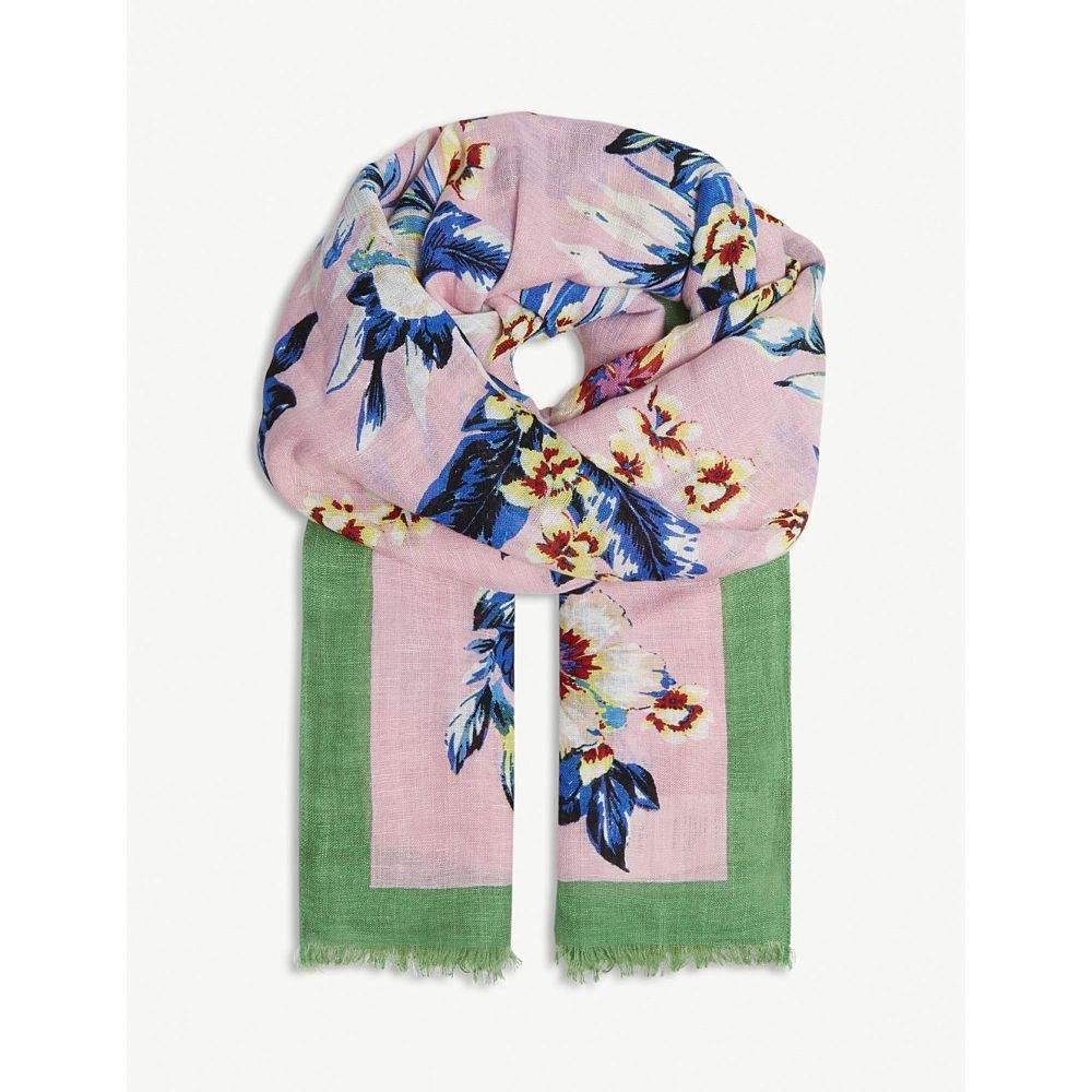 ダイアン フォン ファステンバーグ レディース マフラー・スカーフ・ストール【bolan floral linen-blend scarf】Bolan taffy
