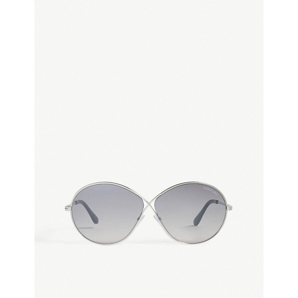 トム フォード レディース メガネ・サングラス【rania oval-frame sunglasses】Silver