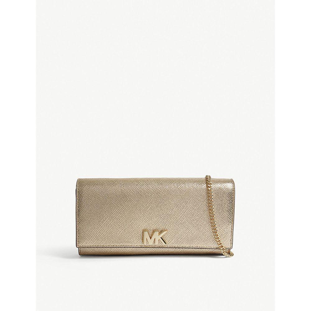 マイケル コース レディース バッグ クラッチバッグ【mott metallic-leather clutch bag】Pale gold