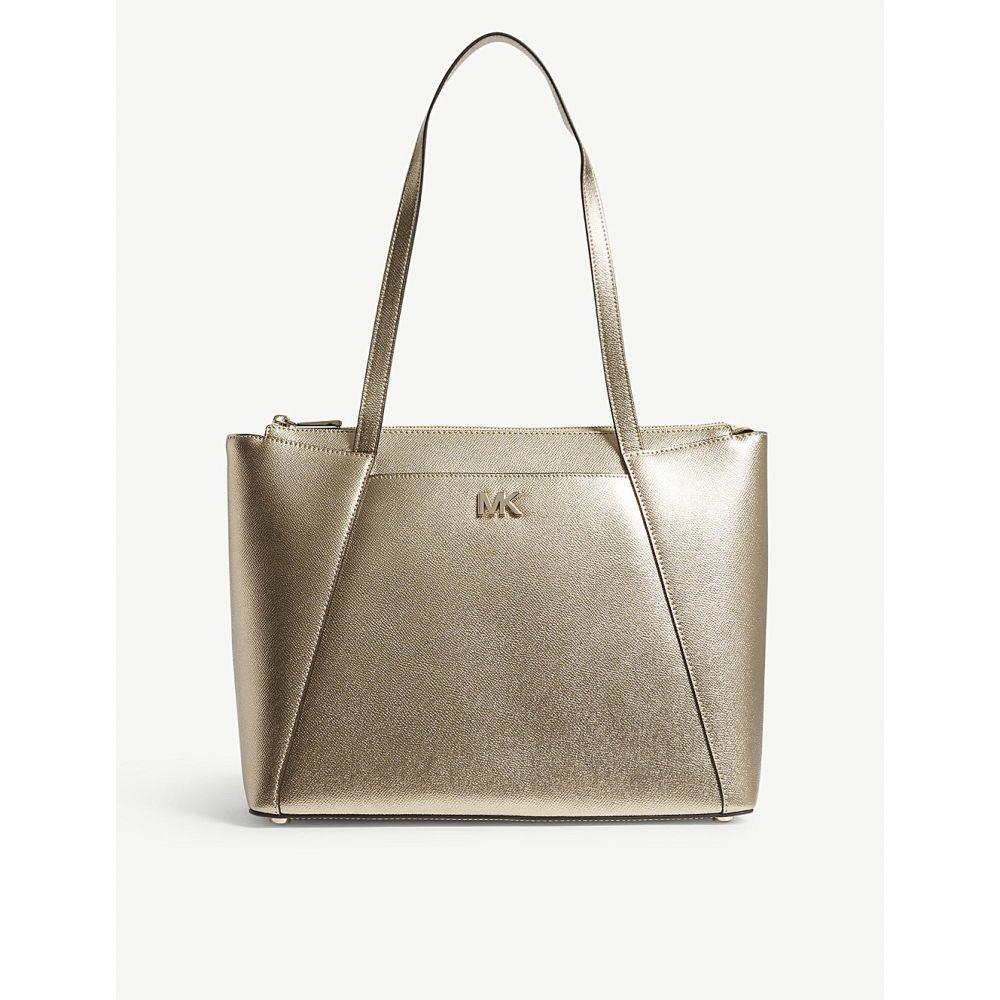 マイケル コース レディース バッグ トートバッグ【maddie metallic leather tote bag】Pale gold