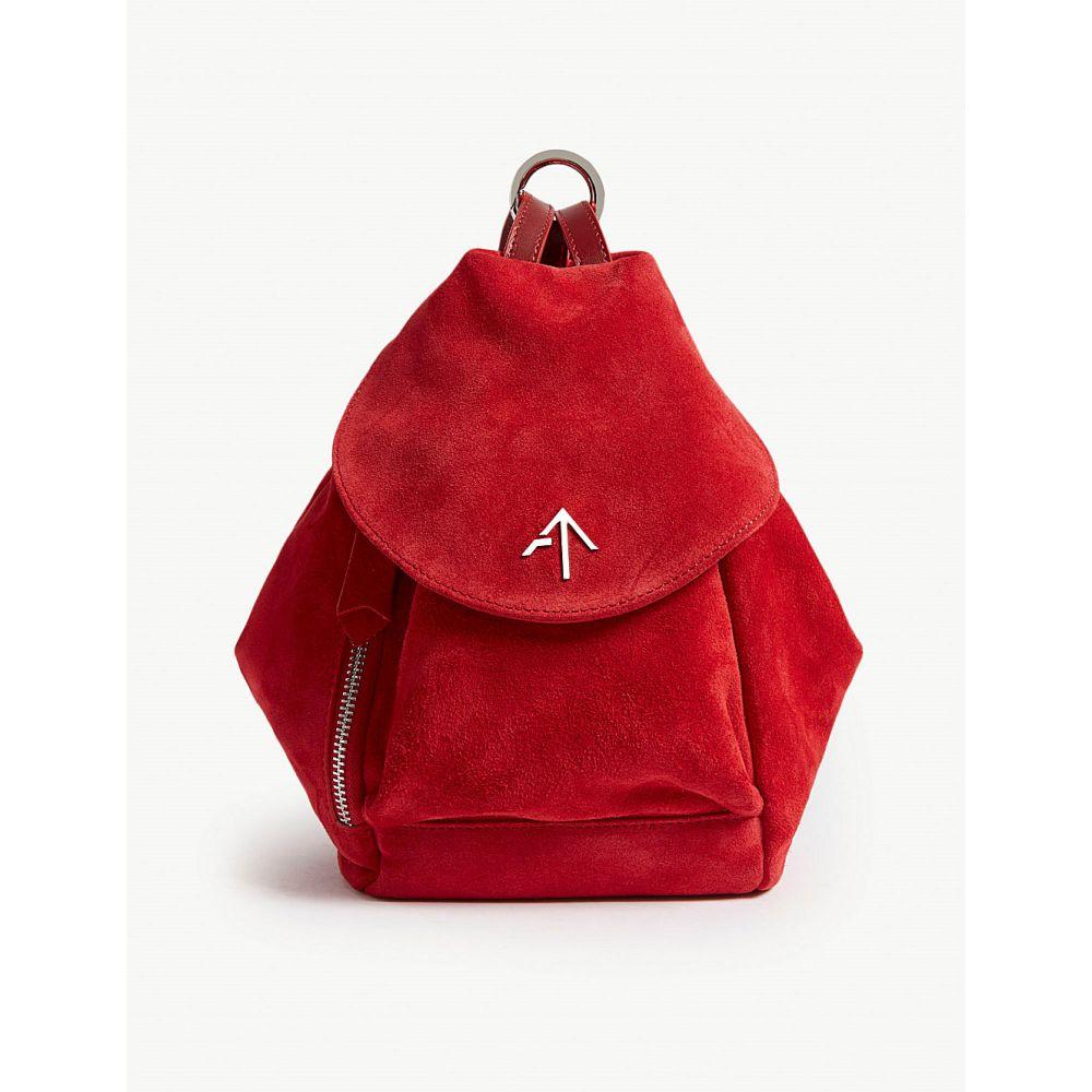 マニュ アトリエ レディース バッグ ショルダーバッグ【mini fernweh suede shoulder bag】Red