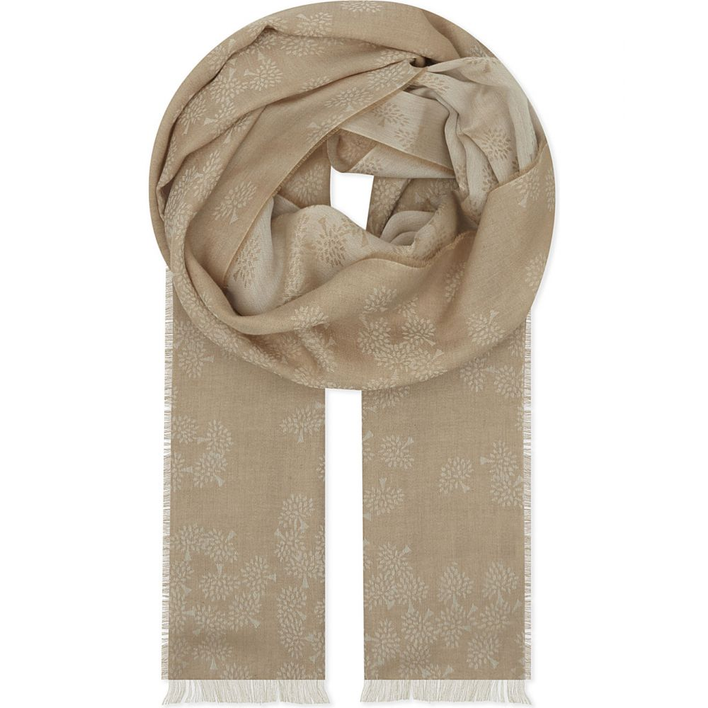 マルベリー レディース マフラー・スカーフ・ストール【tamara cotton scarf】Camel