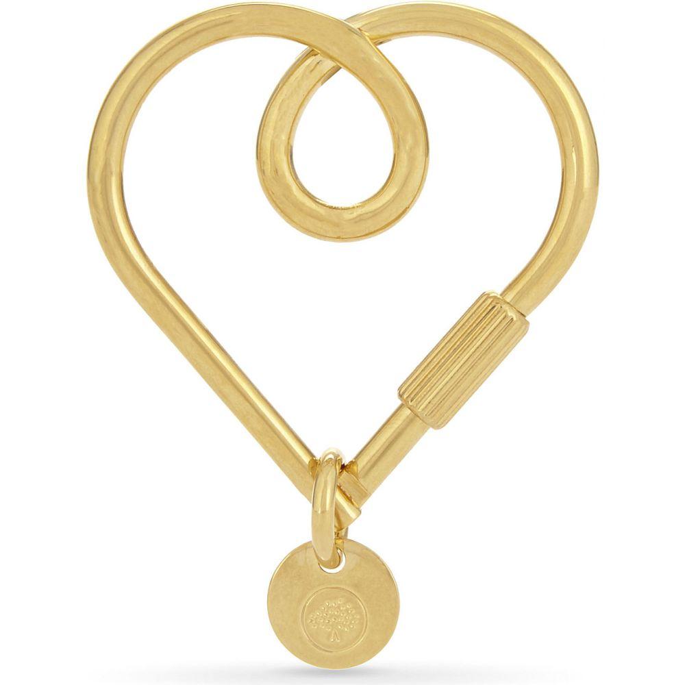 マルベリー レディース キーホルダー【looped heart metal keyring】New brass