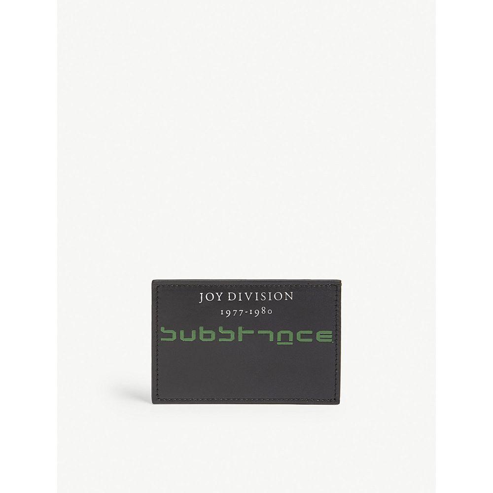 ラフ シモンズ レディース カードケース・名刺入れ【substance leather card holder】Black