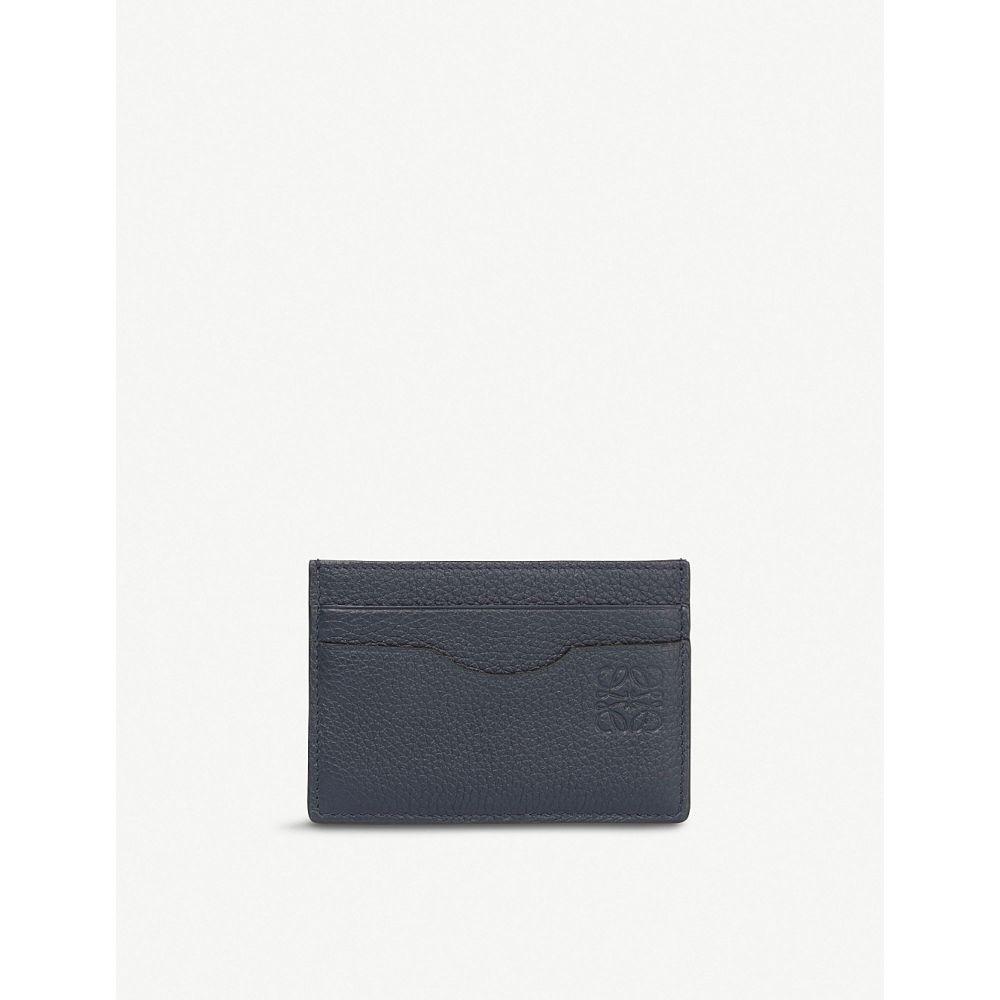 ロエベ レディース カードケース・名刺入れ【plain leather card holder】Midnight blue/black