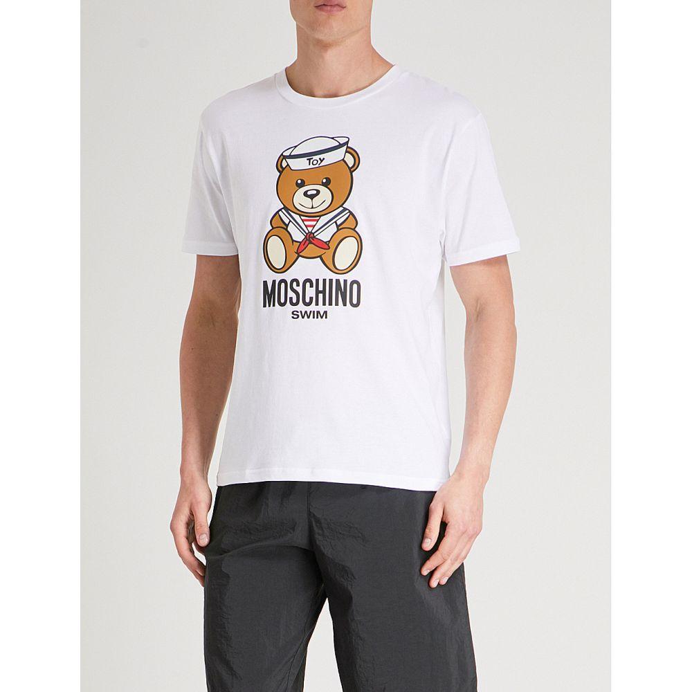 モスキーノ メンズ トップス Tシャツ【sailor bear cotton-jersey t-shirt】White